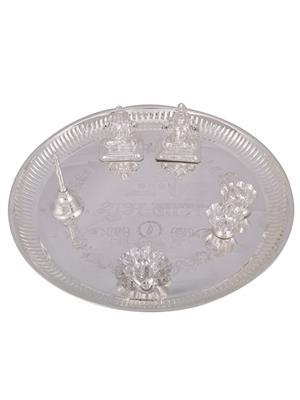 GS Museum GSM229 Silver Pooja Thalis