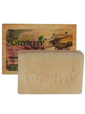 Greenviv GV13 Natural Olive Oil-Geranium Soap