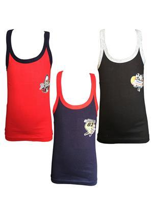Lilsugar Gymbv01 Multicolored Boy Vest Set Of 3