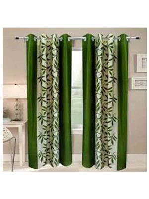 SAI ARPAN GreenPatti-7-2 Green Door Curtain