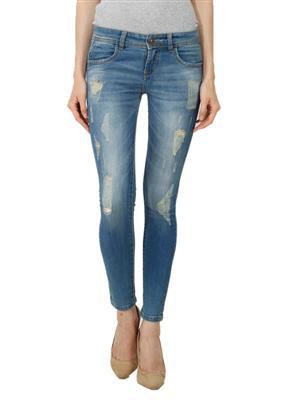 Hash 69 H-177 Dusty Blue  Women Jeans