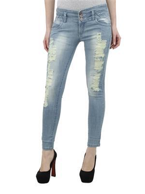 Hash 69 H199  ICE DUSTY Blue Women Jeans