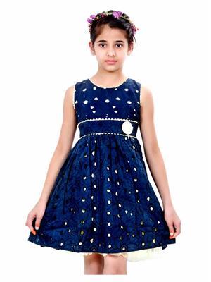 Hushbhi HB0029 Blue Girl Dress