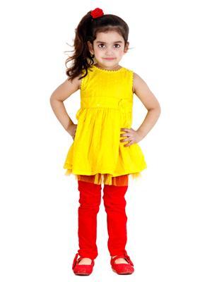 Hushbhi Hb0045 Yellow Girl Frock