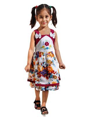 Hushbhi Hb0048 Multicolored Girl Frock
