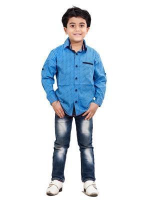 Hushbhi Hb0057 Multicolored Boy Casual Shirt