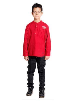 Hushbhi Hboo66 Red Boy Casual Shirt