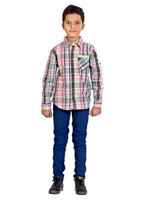 Hushbhi Hb0069 Multicolored Boy Casual Shirt