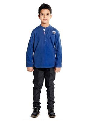 Hushbhi Hb0080 Blue Boy Casual Shirt