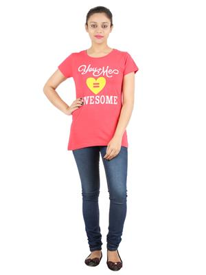 Ymfonline Heart Red Rose Women T-Shirt