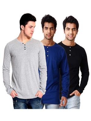 Ansh Fashion Wear HEN-3CM-29 Multicolored Men T-Shirt Set Of 3