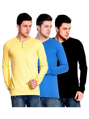 Ansh Fashion Wear HEN-3CM-5 Multicolored Men T-Shirt Set Of 3