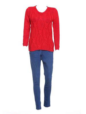 Meei Ic401 Red Women Sweater