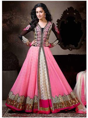 Isha Enterprise Iesh-028 Pink Women Anarkali Salwar Suit