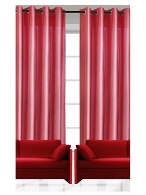 India Furnish IFCUR15003 Pink Curtain