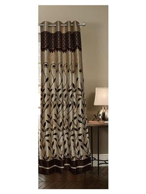 India Furnish IFCUR15040a Brown Curtain