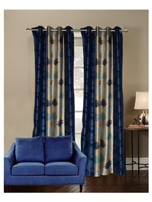 India Furnish IFCUR15043 Turquoise Curtain