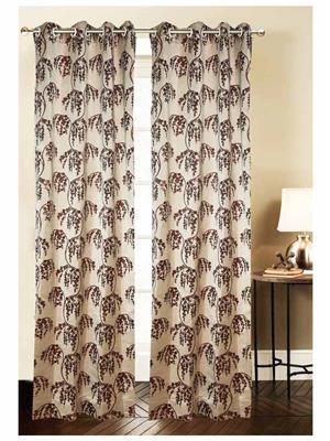 India Furnish IFCUR15065L Maroon Curtain