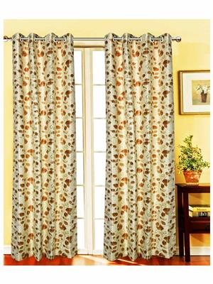 India Furnish IFCUR15075L Gold Curtain