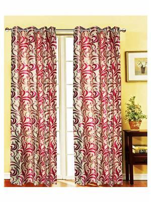 India Furnish IFCUR15077 Pink Curtain