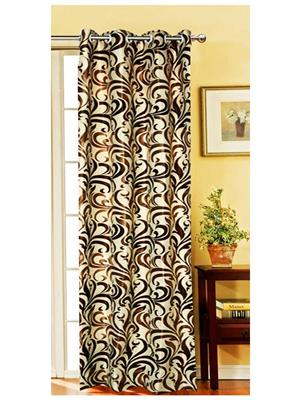 India Furnish IFCUR15078La Brown Curtain