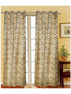 India Furnish IFCUR15082L Gold Curtain