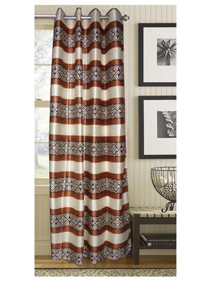 India Furnish IFCUR15088a Brown Curtain