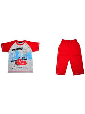 Fubu Ifcw1311Gr_R Multicolored Boy T-Shirt-Lower Set Of Combo Pack