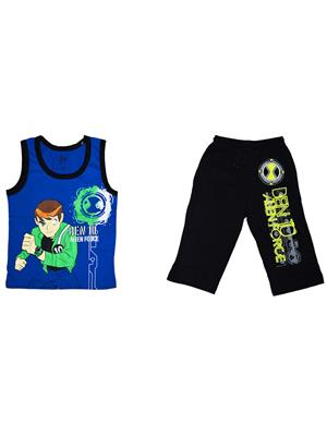 Fubu Iflw0322Bl_Bk Multicolored Boy T-Shirt-Lower Set Of Combo Pack