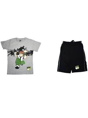 Fubu Iflw0342Gr Multicolored Boy T-Shirt-Short Set Of Combo Pack