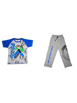 Fubu Iflw311Gr_B Multicolored Boy T-Shirt-Lower Set Of Combo Pack