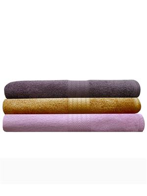 India Furnish IFTW15048 Multicolor Bath Towel Set of 3