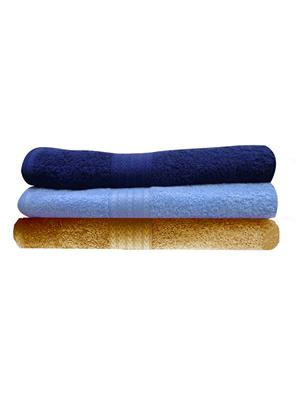 India Furnish IFTW15076-60 Multicolor Bath Towel Set of 3