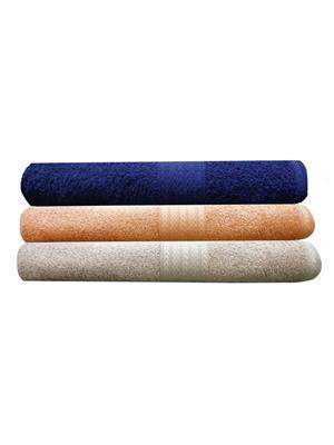 India Furnish IFTW15079-60 Multicolor Bath Towel Set of 3