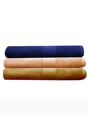 India Furnish IFTW15080 Multicolor Bath Towel Set of 3