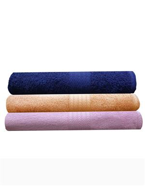 India Furnish IFTW15083 Multicolor Bath Towel Set of 3
