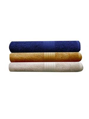 India Furnish IFTW15091-60 Multicolor Bath Towel Set of 3