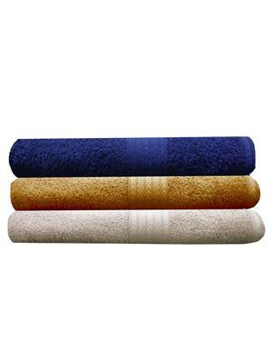 India Furnish IFTW15091 Multicolor Bath Towel Set of 3