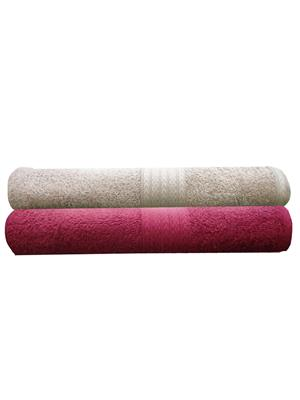 India Furnish IFTW15097 Multicolor Bath Towel Set of 2