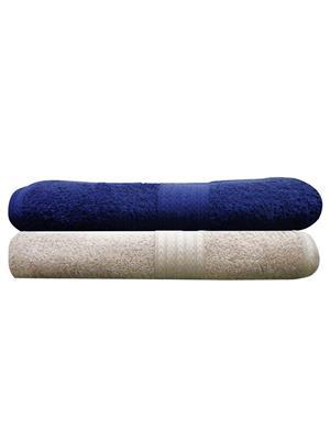India Furnish IFTW15098 Multicolor Bath Towel Set of 2