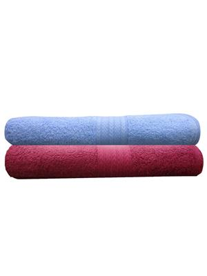 India Furnish IFTW15100 Multicolor Bath Towel Set of 2