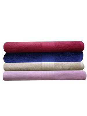 India Furnish IFTW15106 Multicolor Bath Towel Set of 4