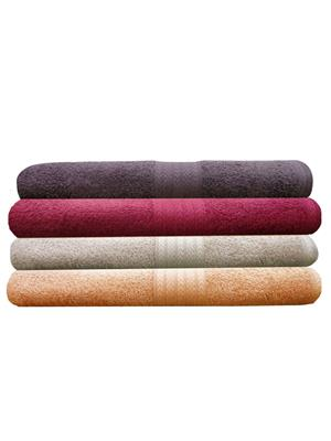 India Furnish IFTW15118 Multicolor Bath Towel Set of 4