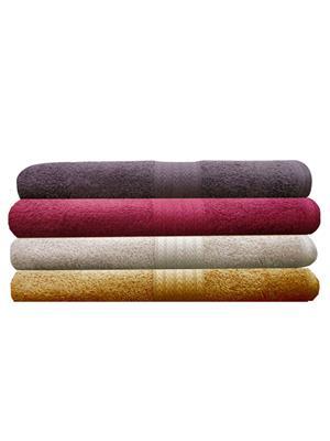 India Furnish IFTW15119 Multicolor Bath Towel Set of 4