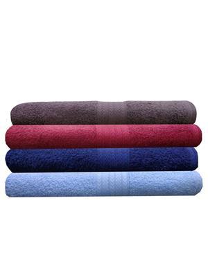 India Furnish IFTW15120 Multicolor Bath Towel Set of 4