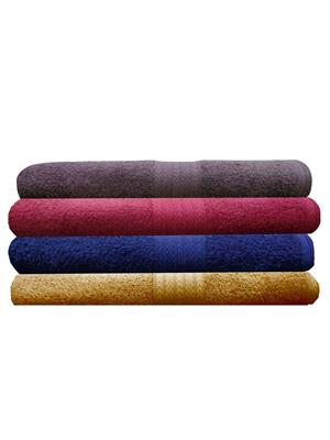 India Furnish IFTW15122 Multicolor Bath Towel Set of 4