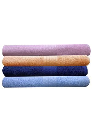 India Furnish IFTW15126 Multicolor Bath Towel Set of 4