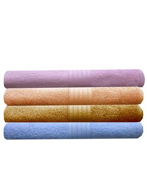 India Furnish IFTW15128 Multicolor Bath Towel Set of 4
