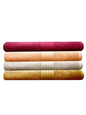 India Furnish IFTW15133 Multicolor Bath Towel Set of 4