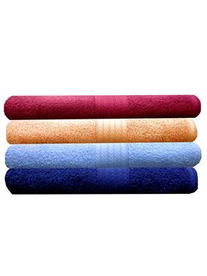 India Furnish IFTW15134-60 Multicolor Bath Towel Set of 4